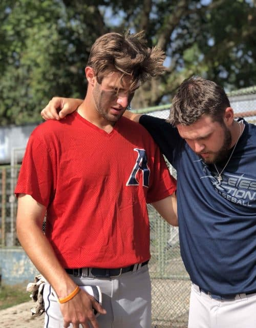 Baseball Praying Together